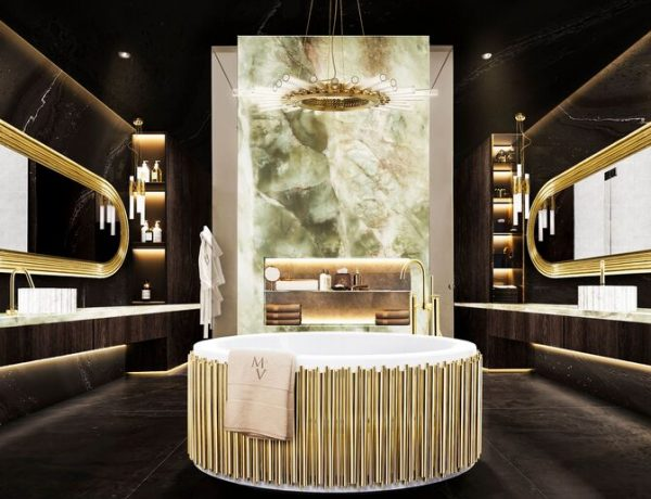 bathrooms The Midas Touch: Golden Bathrooms That Shine The Midas Touch Golden Bathrooms That Shine3 600x460
