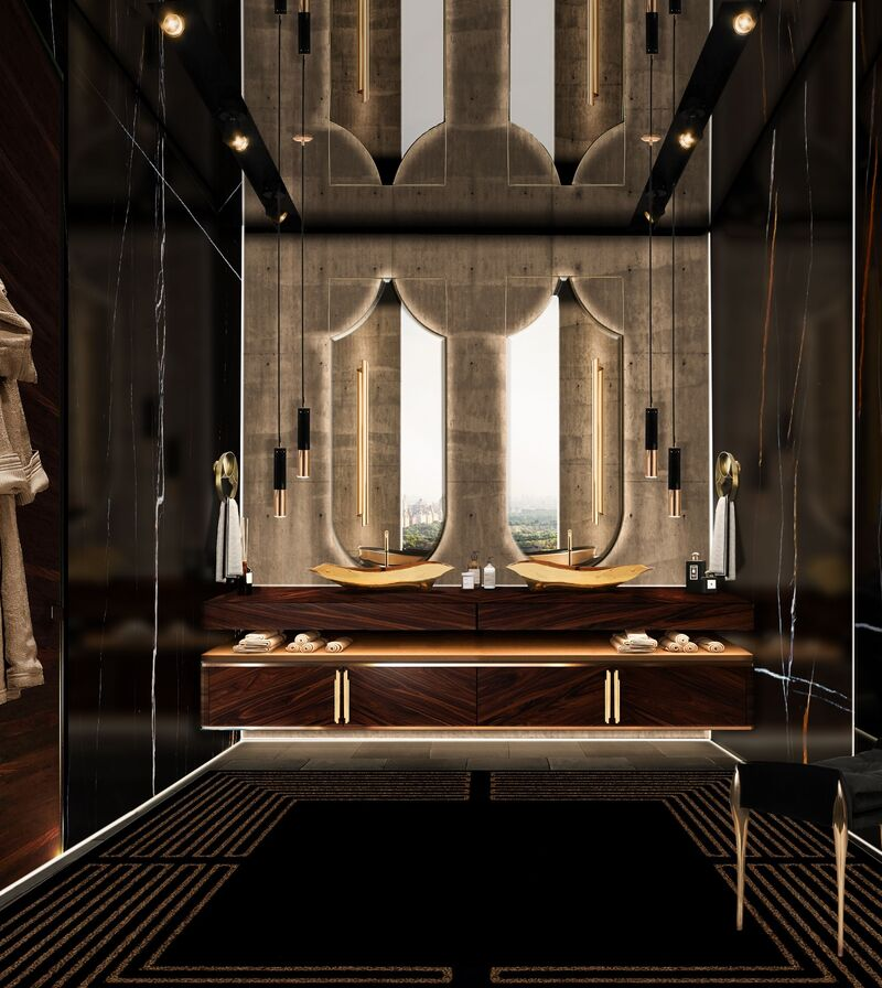 The Midas Touch: Golden Bathrooms That Shine bathrooms The Midas Touch: Golden Bathrooms That Shine The Midas Touch Golden Bathrooms That Shine5