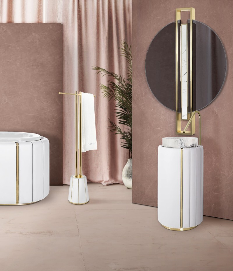 Darian Collection: An Amazement to the Senses darian Darian Collection: An Amazement to the Senses charming bathroom with white darian towel rack and white darian freestanding 1