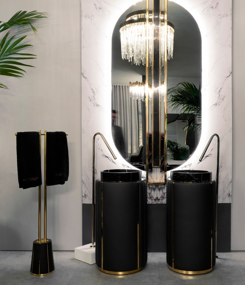 Darian Collection: An Amazement to the Senses darian Darian Collection: An Amazement to the Senses darian freestanding and shield mirror make the perfect inspired bathroom decoration 1