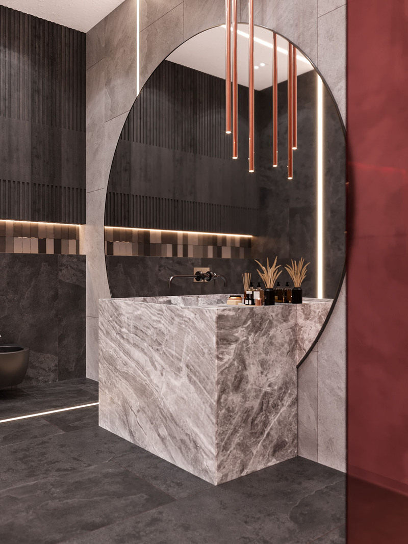 Red Robot Design: A Fantastic Modern Bathroom Decor