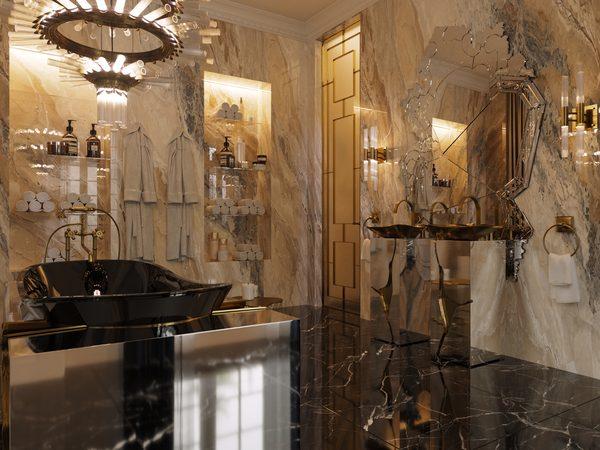 eternel parisian apartment Eternel Parisian Apartment: An Intense Experience In Bathroom Design FIERCE BATHROOM CAMERA 01 F 600x450